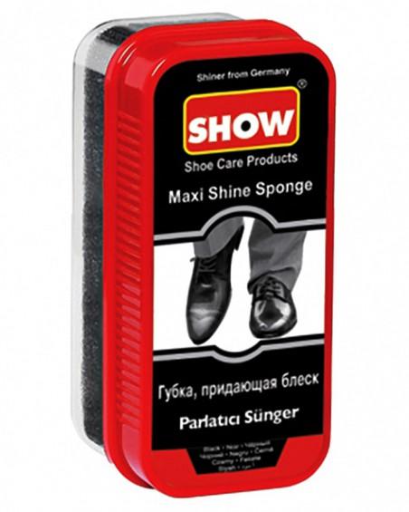Gąbka do czyszczenia, nabłyszczania butów, Maxi Show, czarna