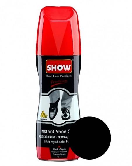 Czarna pasta w płynie do butów, samo połyskowa, Show 75 ml