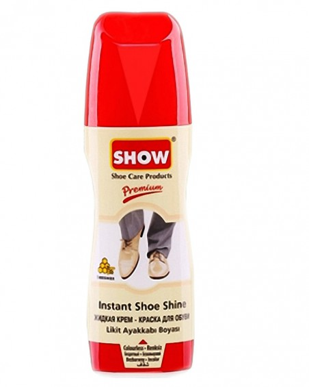 Bezbarwna pasta w płynie do butów, samo połyskowa, Show, 75 ml
