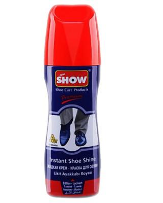 Granatowa pasta w płynie do butów, samo połyskowa, Show, 75 ml