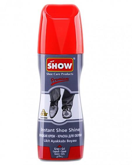 Szara pasta w płynie do butów, samo połyskowa, Show, 75 ml