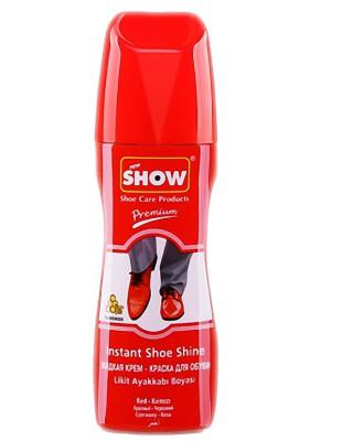 Czerwona pasta w płynie do butów, samo połyskowa, Show, 75 ml
