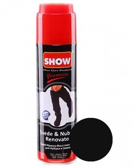 Czarny renowator, pasta do zamszu nubuku, Show, 250 ml
