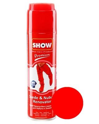 Czerwony renowator, pasta do zamszu nubuku, Show, 250 ml