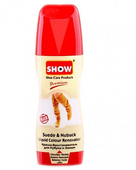 Bezbarwny, płynny renowator koloru do zamszu, nubuku, Show, 75 ml