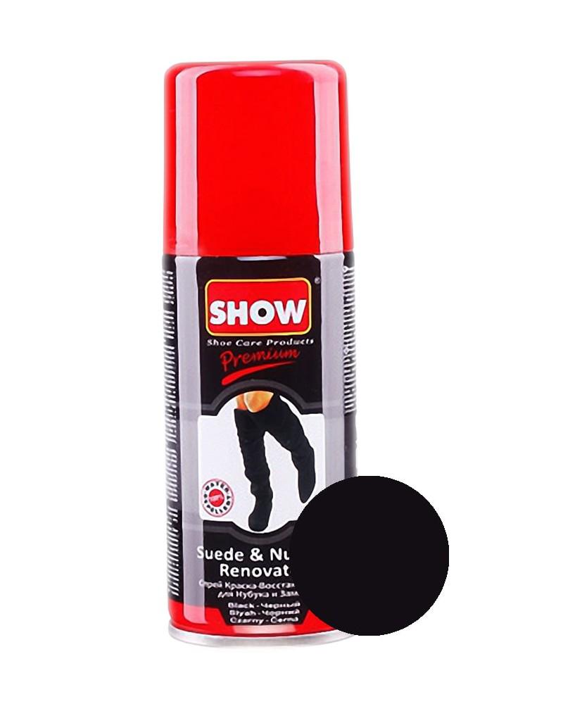Czarny renowator, czarna pasta do zamszu, nubuku, Show, 100 ml