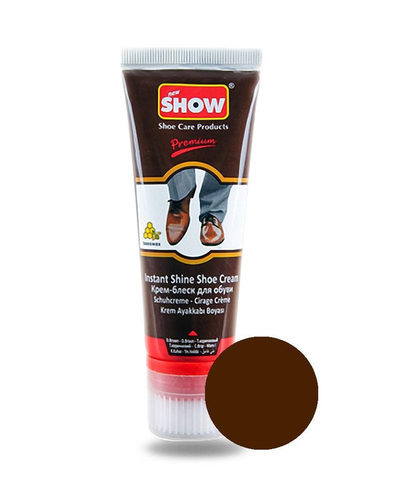Pasta, krem do butów, samo połyskowy, brązowy, Show, 75 ml