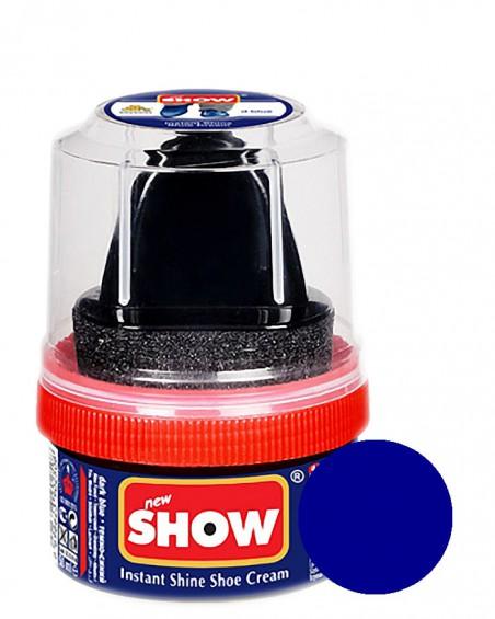 Granatowa pasta woskowa, nabłyszczająca, Shoe Cream, Show