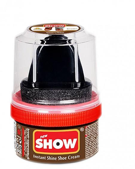Brązowa pasta woskowa, nabłyszczająca, Shoe Cream, Show