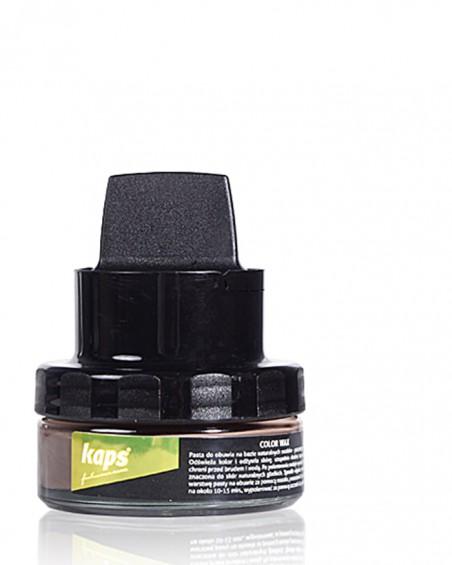 Brązowa pasta do butów z woskiem, Color Wax, Kaps
