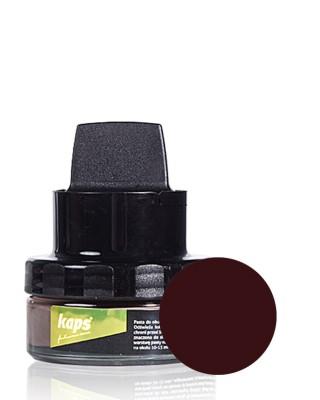 Ciemnobrązowa pasta do butów z woskiem, Color Wax, Kaps