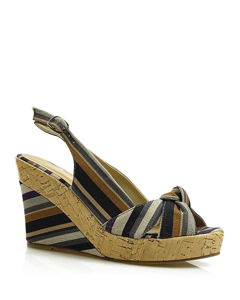 Szarogranatowe sandały damskie na koturnie
