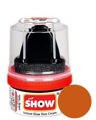 Jasnobrązowa pasta woskowa, nabłyszczająca, Shoe Cream, Show