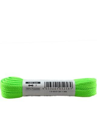Płaskie, zielone neon, sznurówki do butów, 120 cm, Bama