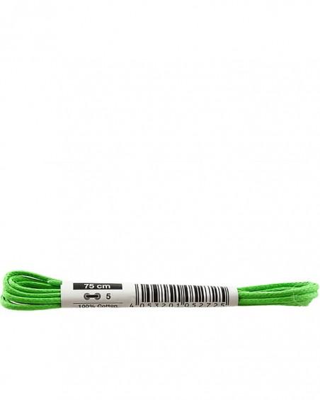 Zielone, cienkie, woskowane sznurówki do butów, 75 cm, Bama