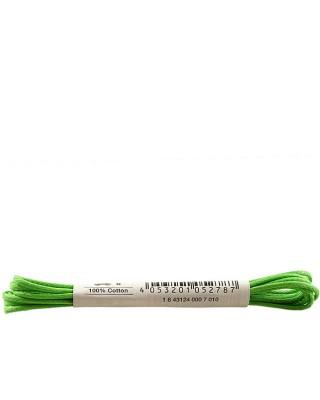 Zielone, cienkie, woskowane sznurówki do butów, 90 cm, Bama