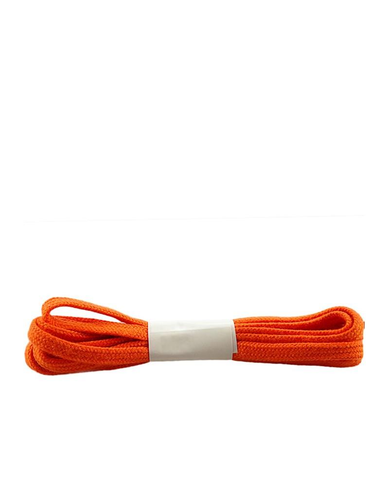 Pomarańczowe, płaskie sznurówki do butów, bawełniane, 75 cm