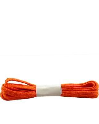Pomarańczowe, płaskie sznurówki do butów, bawełniane, 180 cm