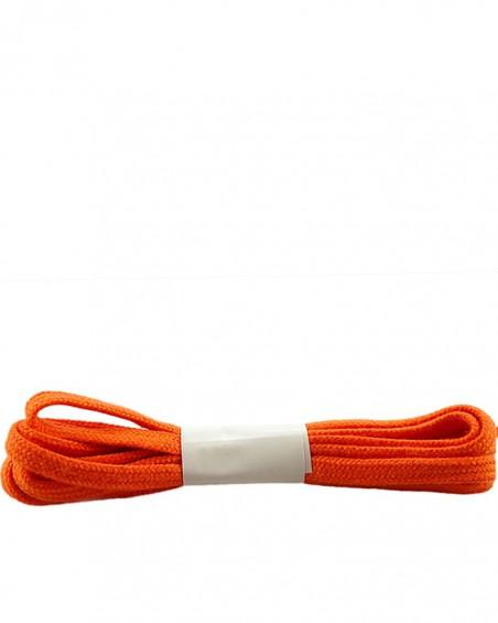 Pomarańczowe, płaskie sznurówki do butów, bawełniane, 120 cm