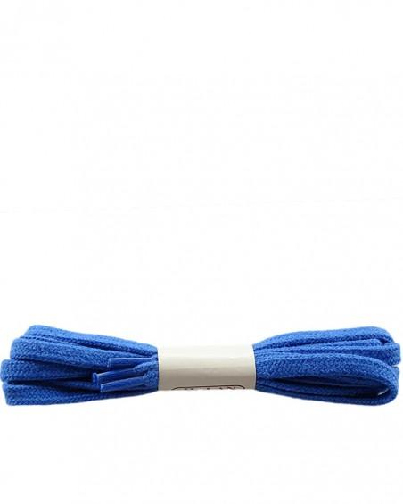 Niebieskie, płaskie sznurówki do butów, bawełniane, 100 cm