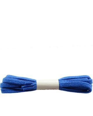 Niebieskie, płaskie sznurówki do butów, bawełniane, 120 cm