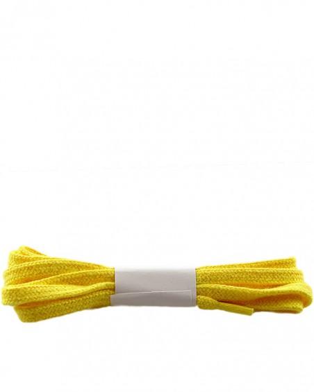 Żółte, płaskie sznurówki do butów, bawełniane, 120 cm