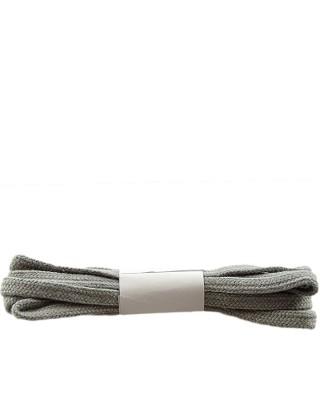 Szare, płaskie sznurówki do butów, bawełniane, 75 cm