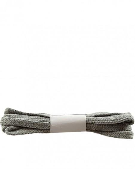 Szare, płaskie sznurówki do butów, bawełniane, 100 cm