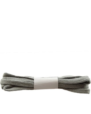 Szare, płaskie sznurówki do butów, bawełniane, 180 cm