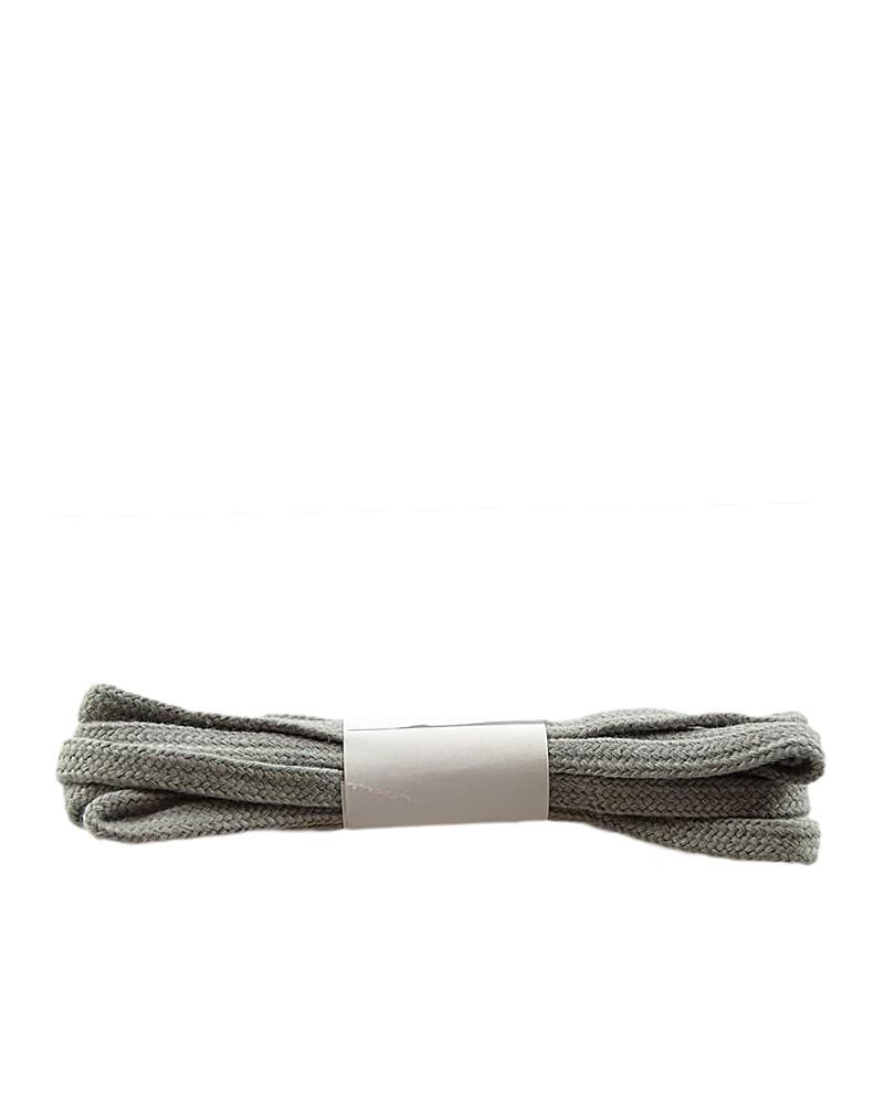Szare, płaskie sznurówki do butów, bawełniane, 120 cm