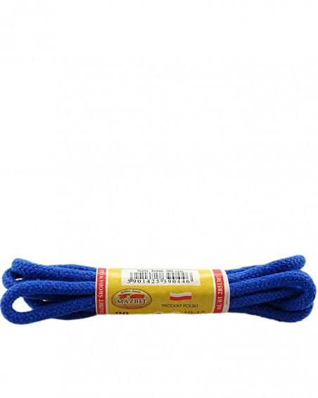 Niebieskie, okrągłe grube, sznurówki do butów, 90 cm, Mazbit