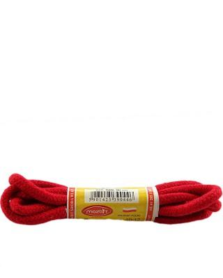 Czerwone, okrągłe grube, sznurówki do butów, 90 cm, Mazbit