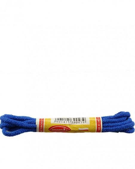 Niebieskie, okrągłe cienkie, sznurówki do butów, 75 cm, Mazbit