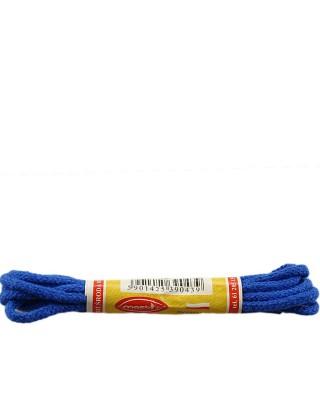 Niebieskie, okrągłe cienkie, sznurówki do butów, 60 cm, Mazbit
