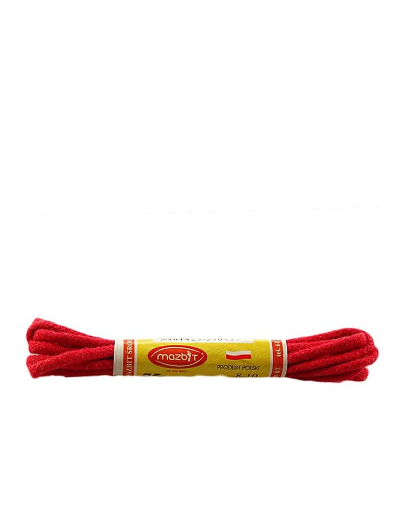 Czerwone, okrągłe cienkie, sznurówki do butów, 90 cm, Mazbit
