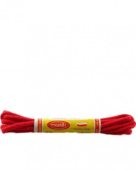 Czerwone, okrągłe cienkie, sznurówki do butów, 60 cm, Mazbit