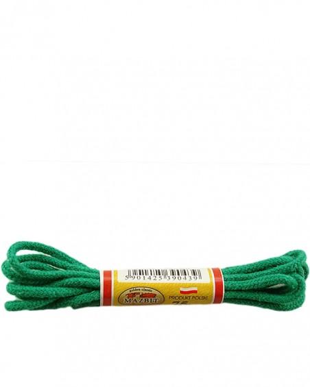 Zielone, okrągłe cienkie, sznurówki do butów, 75 cm, Mazbit