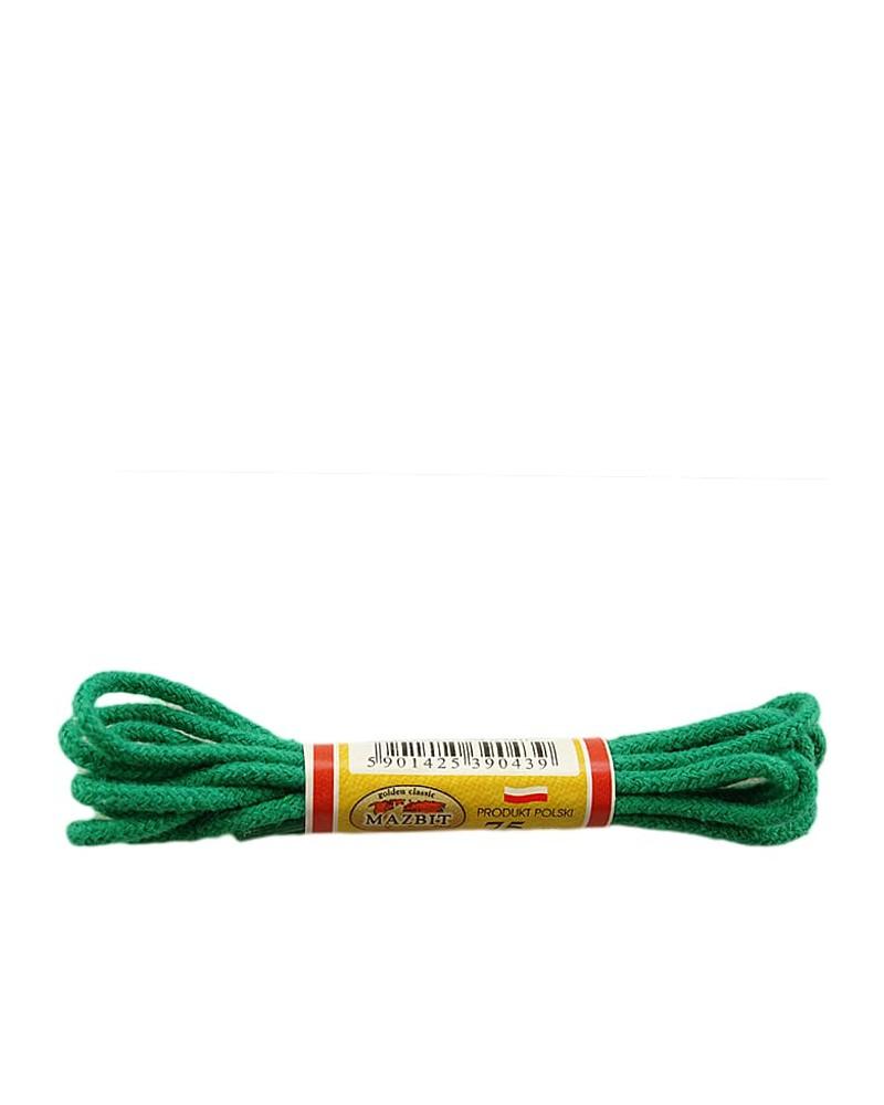 Zielone, okrągłe cienkie, sznurówki do butów, 90 cm, Mazbit