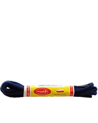 Granatowe, okrągłe cienkie, sznurówki do butów, 90 cm, Mazbit