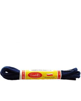 Granatowe, okrągłe cienkie, sznurówki do butów, 60 cm, Mazbit