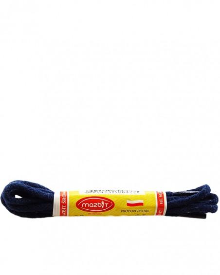 Granatowe, okrągłe cienkie, sznurówki do butów, 75 cm, Mazbit