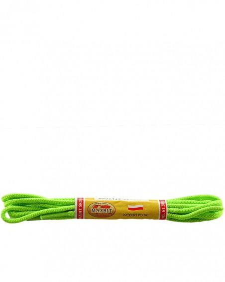 Jasnozielone, okrągłe cienkie, sznurówki do butów, 90 cm