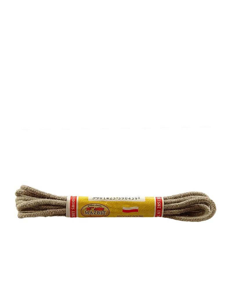 Beżowe, okrągłe cienkie, sznurówki do butów, 90 cm, Mazbit