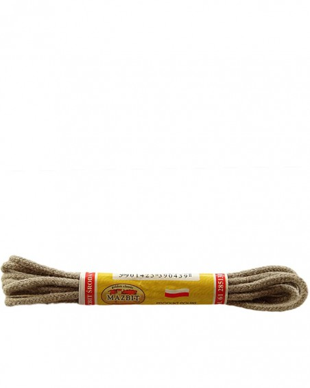Beżowe, okrągłe cienkie, sznurówki do butów, 60 cm, Mazbit