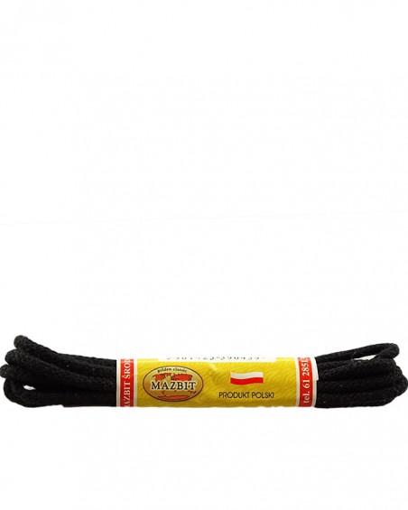 Czarne, okrągłe cienkie, sznurówki do butów, 120 cm, Mazbit