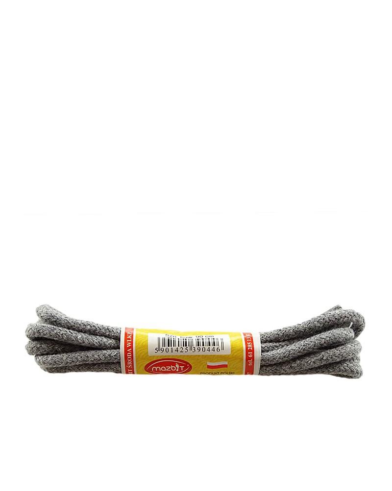 Szare, popielate, okrągłe cienkie, sznurówki do butów, 75 cm