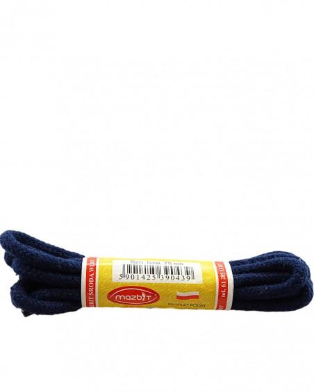 Granatowe, okrągłe grube, sznurówki do butów, 60 cm, Mazbit