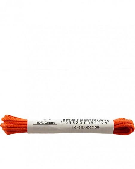 Pomarańczowe, woskowane cienkie, sznurówki do butów, 90 cm, Bama