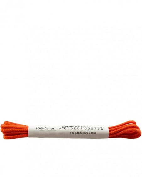 Pomarańczowe, woskowane cienkie, sznurówki do butów, 75 cm, Bama