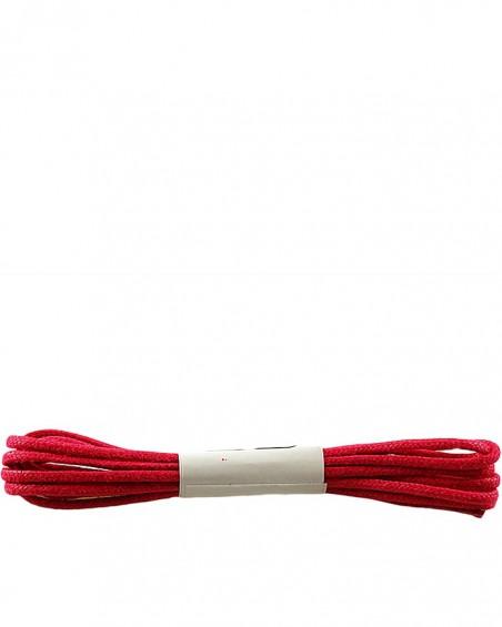 Czerwone, cienkie, woskowane sznurówki do butów, 120 cm, Halan